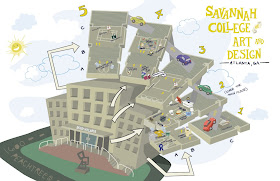 scad atlanta campus map Renee Rivas Scad Atlanta Illustrated Map