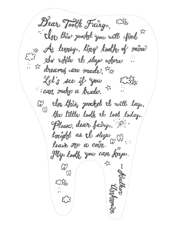 Tooth Fairy Poems For Girls