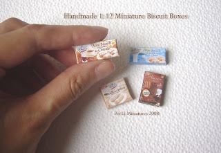 1/12 dollhouse miniature biscuit box