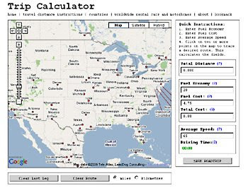 plan your rv trip with trip calculator