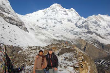 iam with my best friend in Annapurna base camp