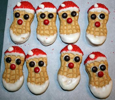 Nutter Butter Santas - Rah Cha Chow