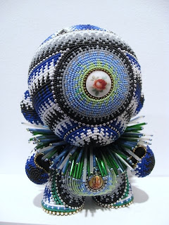 Lyons wier gallery jan hulings beaded munny anyone who has wandered into a kid robot store will know the munny pronounced muni doll its a blank white vinyl character you can decorate yourself solutioingenieria Choice Image