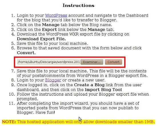Cómo hacer para pasar o Convertir un blog de Wordpress.com a Blogger 4