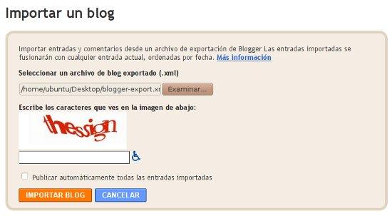 Cómo hacer para pasar o Convertir un blog de Wordpress.com a Blogger 5
