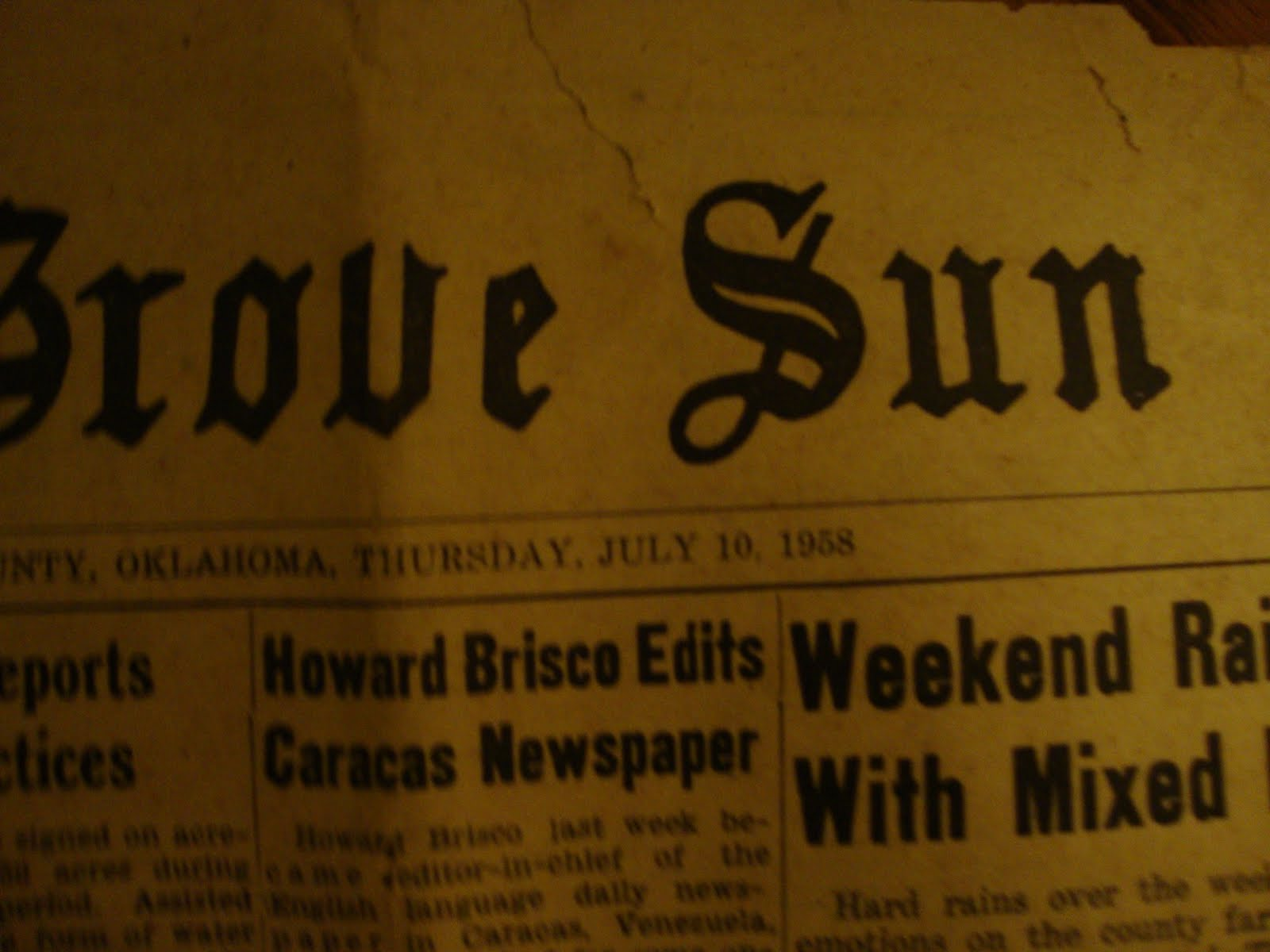 Grove Oklahoma Newspaper