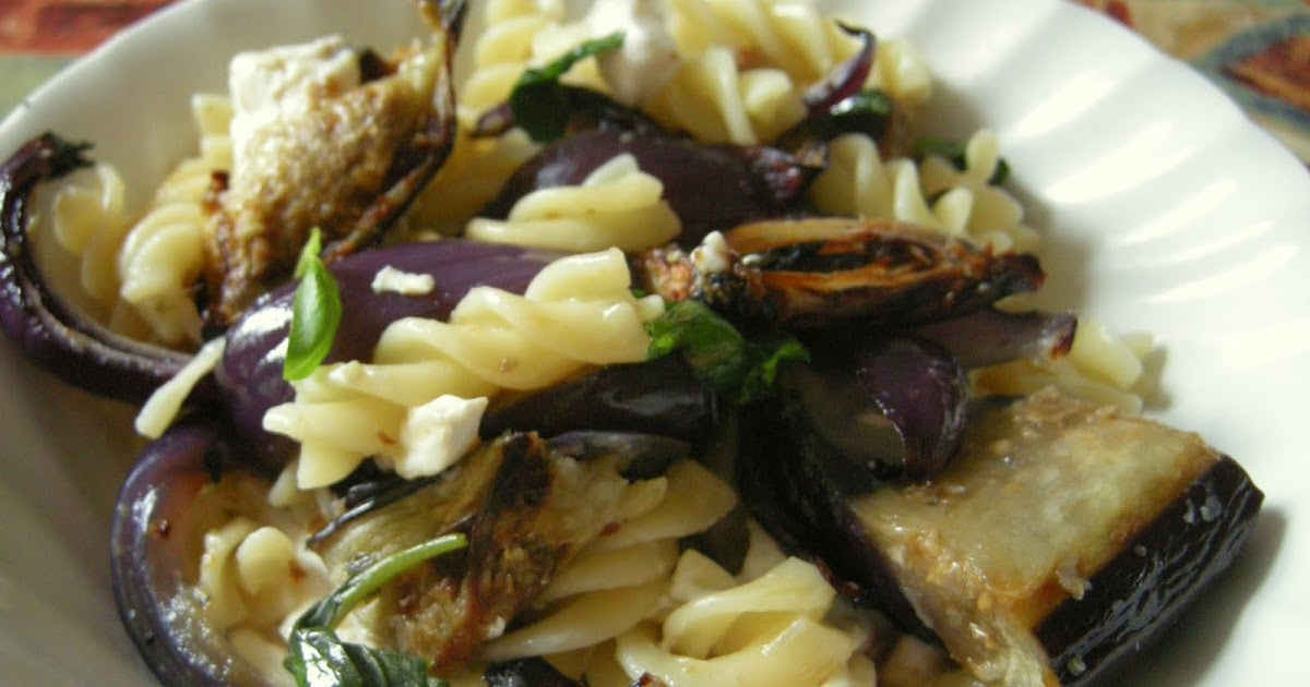 Chachi S Kitchen Roasted Aubergine And Goat S Cheese Pasta