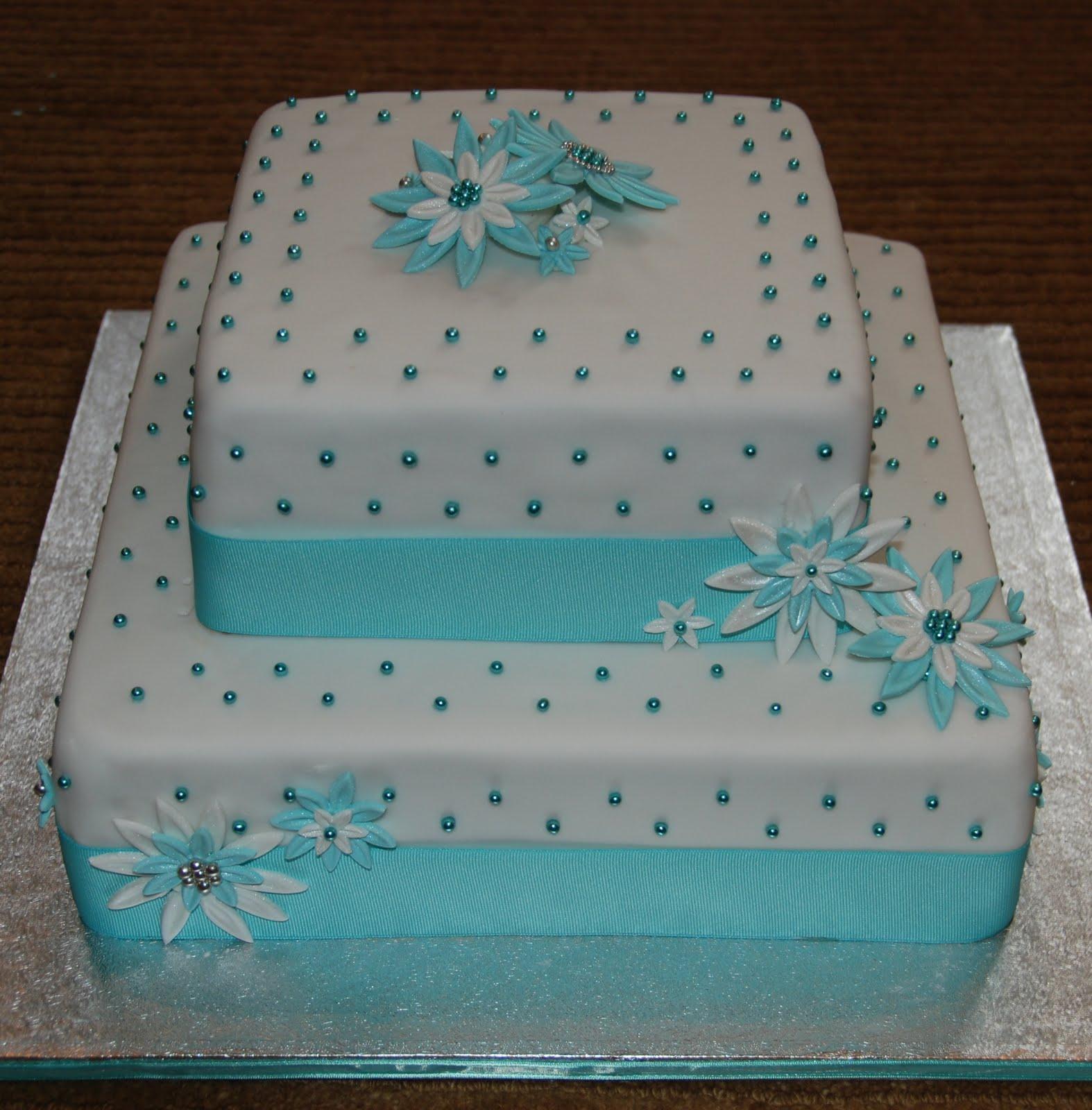 Tiffany Box Bridal Shower Cake - Tiffany Box Birthday Cake  Tiffany Bridal Shower Cakes