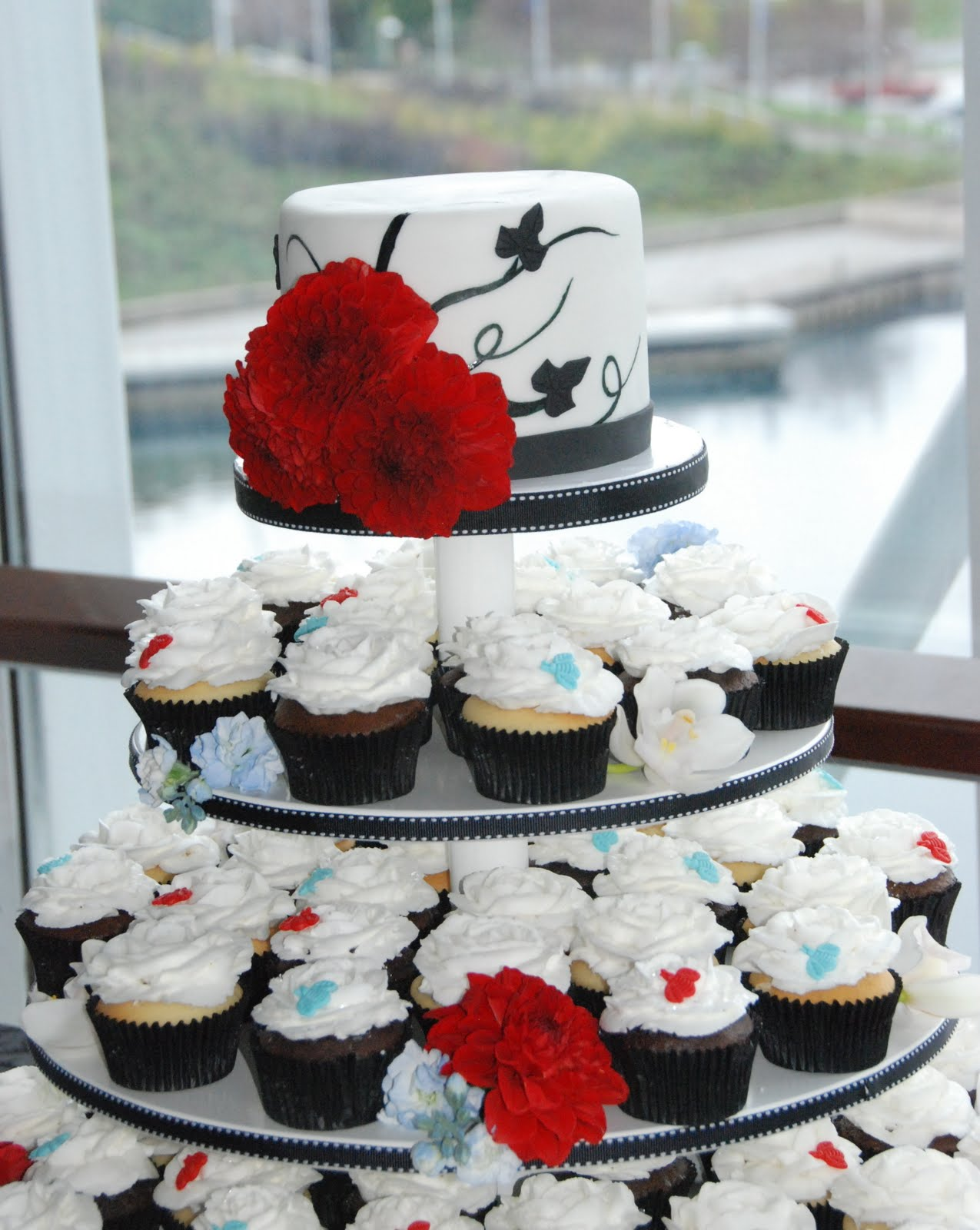 red and white wedding cake cupcakes cake creations by trish cupcake wedding 19097