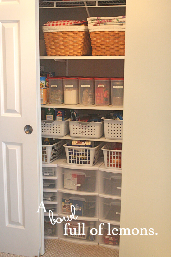 New A coat closet turned… pantry! | A Bowl Full of Lemons LB84