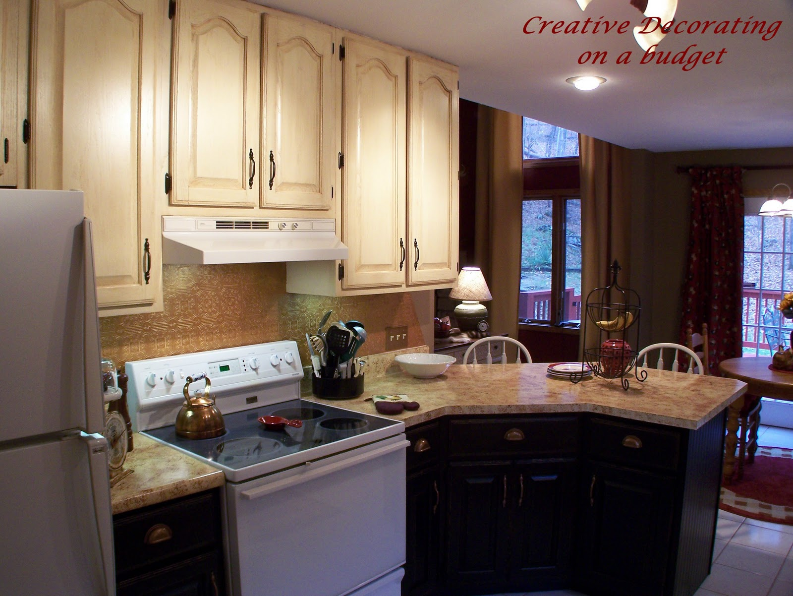 inexpensive countertops for kitchens kitchen double doors creative decorating on a budget - diy show off ...