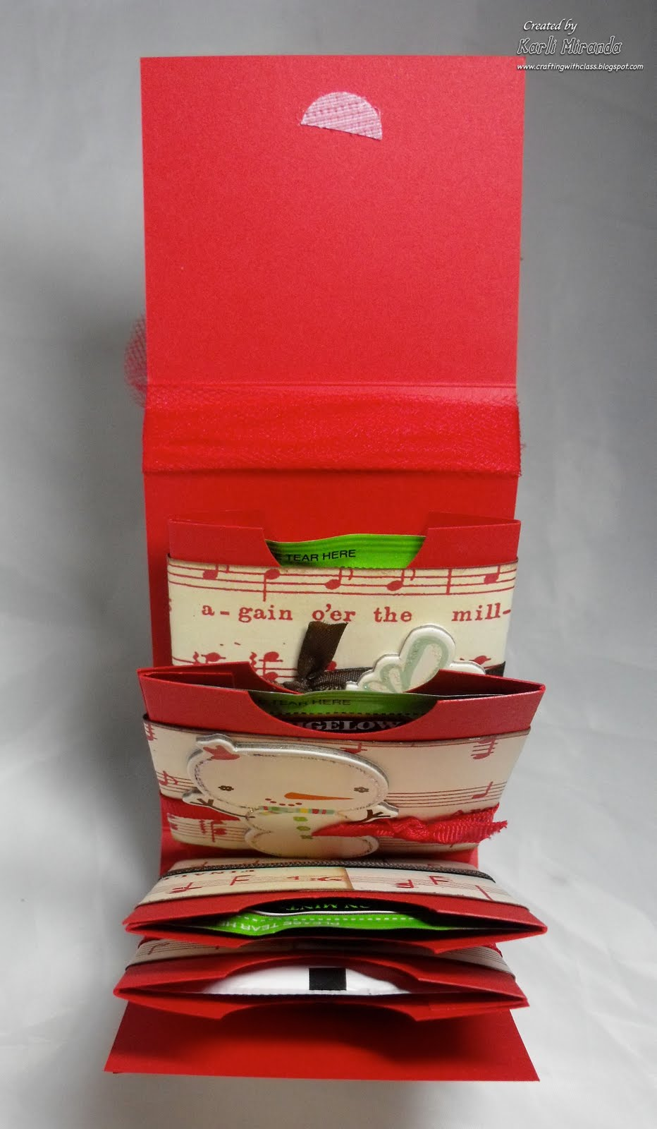 Crafting With Class Gift Card Tea Bag Pocket Holder