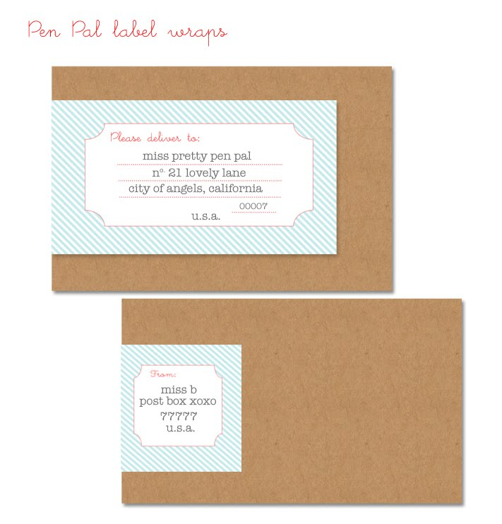 Simply Fun Stuff: Free Download: Wrap Around Address Labels