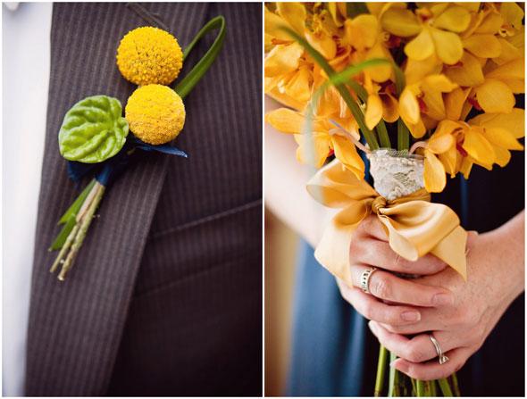 Navy + Yellow Wedding