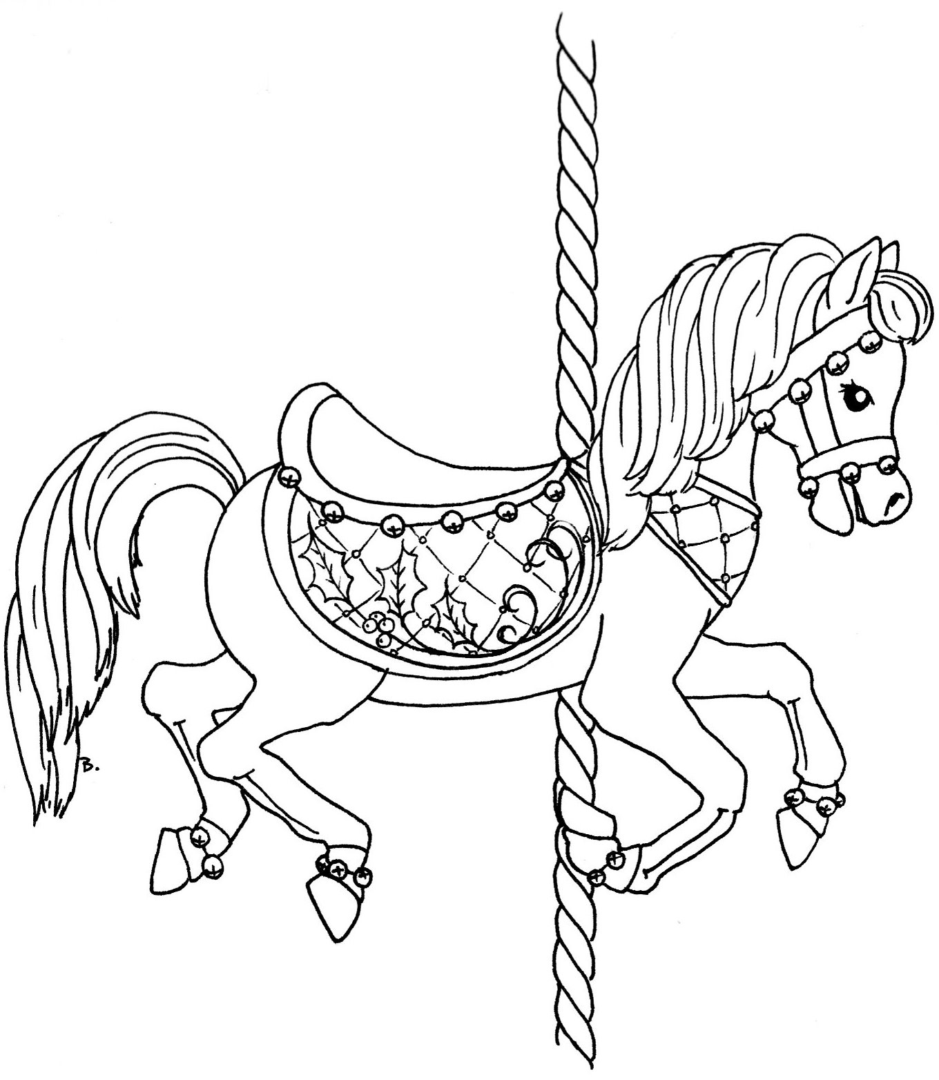 free coloring pages of carousel horses | 32 5