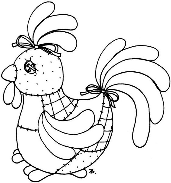 Beccy's Place: Quilted Chicken
