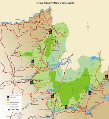 mapa do geres Imagens do Gerês: Mapa do Gerês mapa do geres