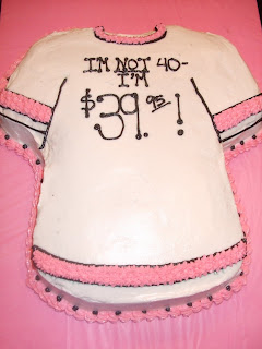 a cappella cakes Shannons 40th Birthday Cake