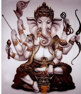 eight arms Ganesha