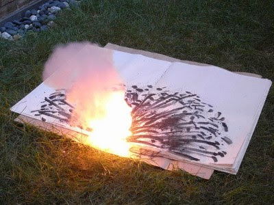 Danger Book: Suicide Fireworks by Cai Guo-Qiang
