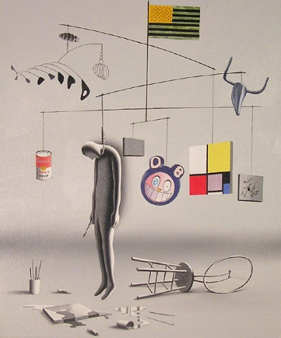 Suicide by Modernism by Mark Kostabi, 2005