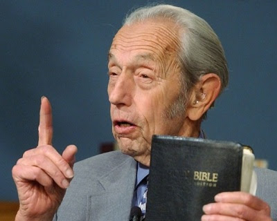 Harold Camping with bible
