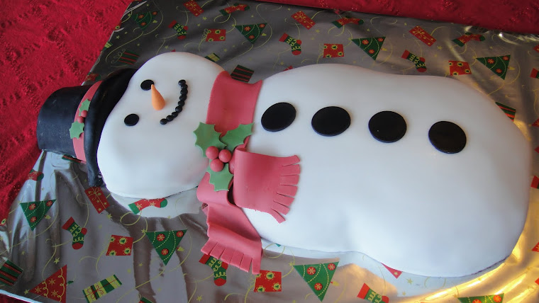 Frosty the Snowman Cake