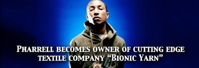 yarn1 Pharrell invests in cutting edge fabric company Bionic Yarn