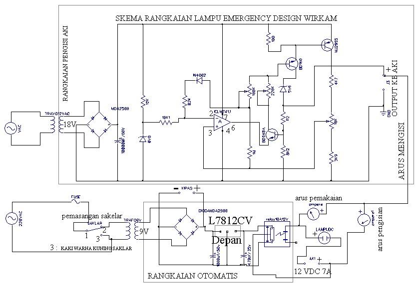 Skema Elektro Lampu Emergency