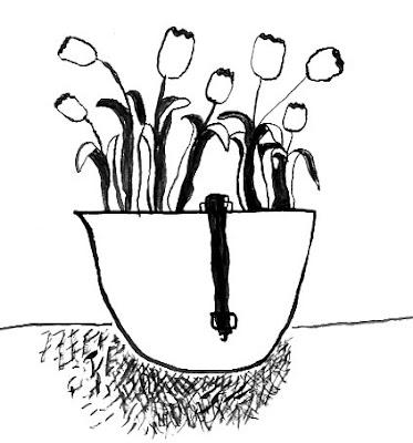 Flower Pot: Helments Make Good Flower Pots