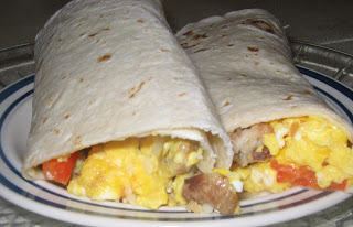 Breakfast Burrito with Bell Peppers