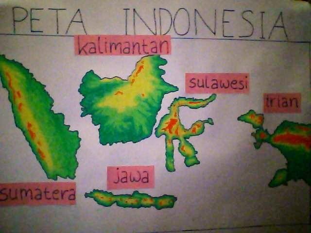 Gambar Peta Indonesia Untuk Anak Tk Koleksi Gambar Hd