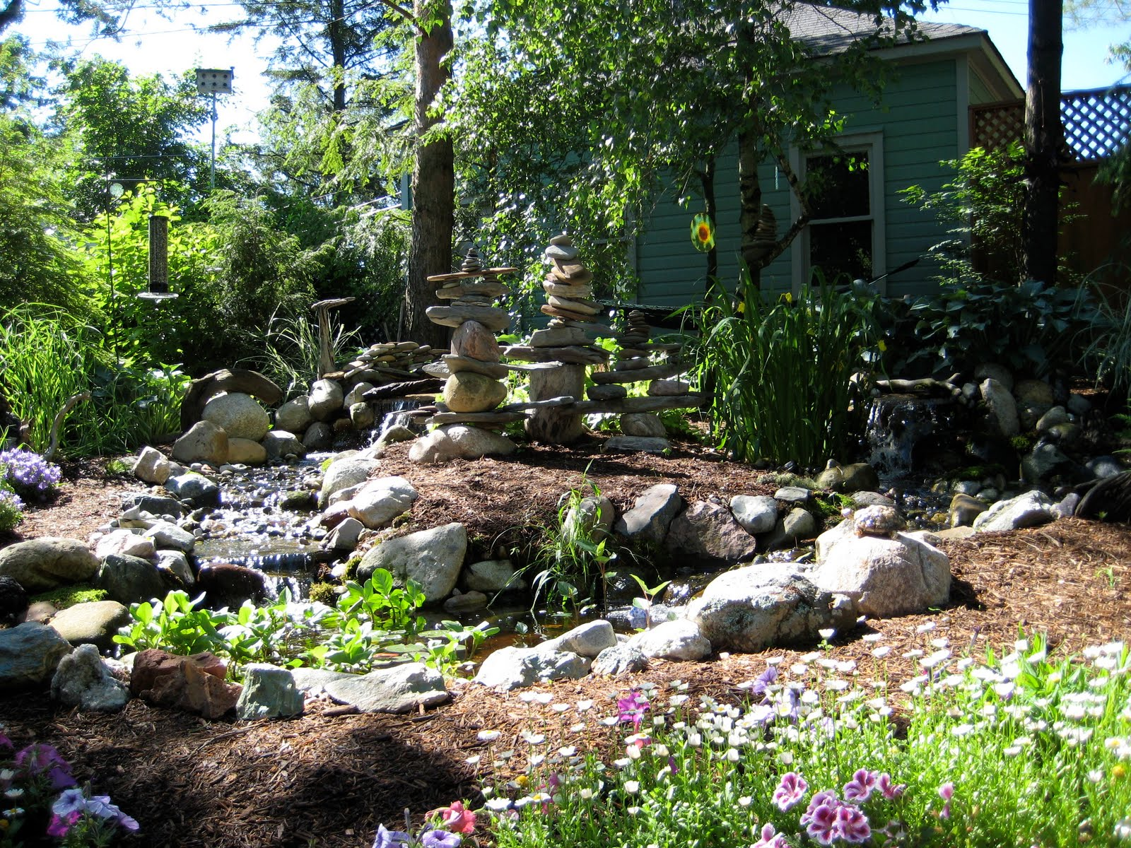 Pondless waterfall designs for Dog friendly landscape design