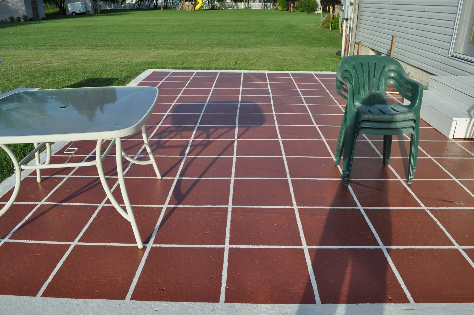 Diy Paint Concrete Patio Keep Calm And Decorate Painted Patio Tiles
