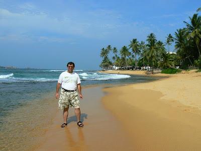 Plaja Sri Lanka: plaja din Hikkaduwa