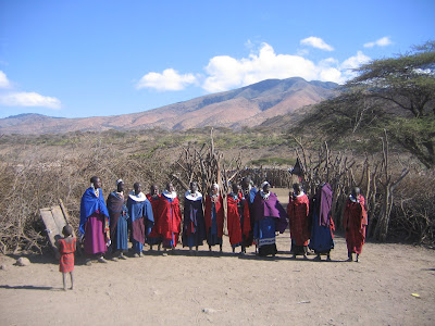 Imagini safari Kenya: trib masai