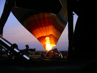 Decolare balon in safari in Kenya