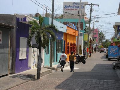 Strada principala pe insula Caraibe