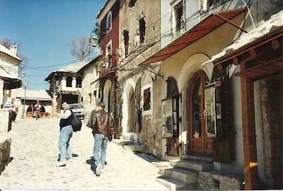 Imagini Bosnia: zona musulmana din Mostar