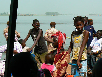 Obiective turistice Mali: concurs pirogi Mopti, parada handicapatilor