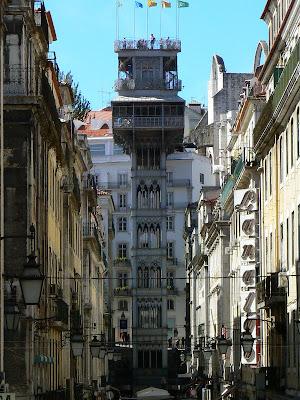 Imagini Portugalia: liftul Santa Justa Lisabona