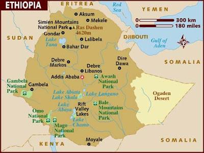 Harta turistica Etiopia