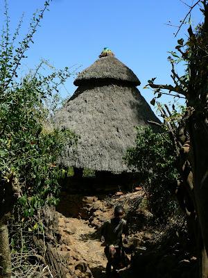 Imagini Etiopia: coliba Konso