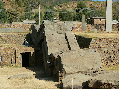 Imagini Etiopia: stelae cea mai mare din Aksum