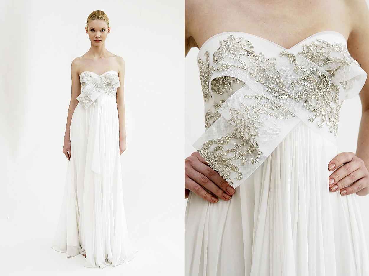 Marchesa Peach And Gold Wedding Dress – DACC