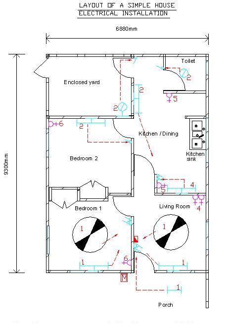 Simple House Diagram 1976 Honda Cb750 Wiring Electrical Installation Pictures A 1 Layout