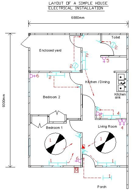 Auto Cad Drawing Electrical Symbols  House Electrical