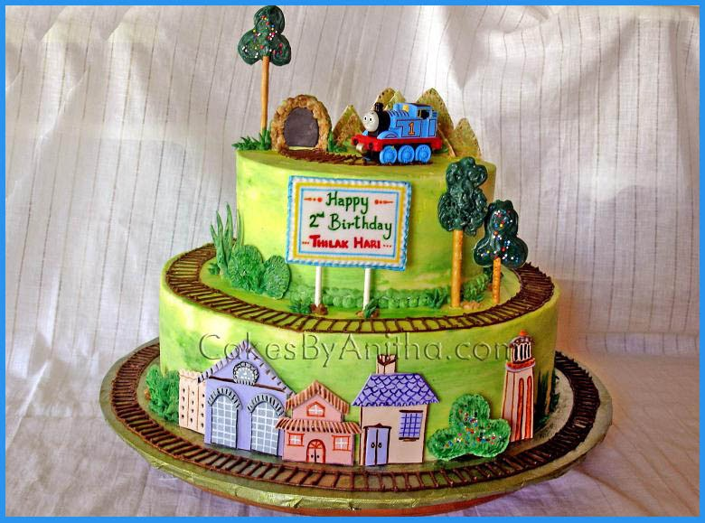 Cakes By Anitha Thomas Train Station Cake