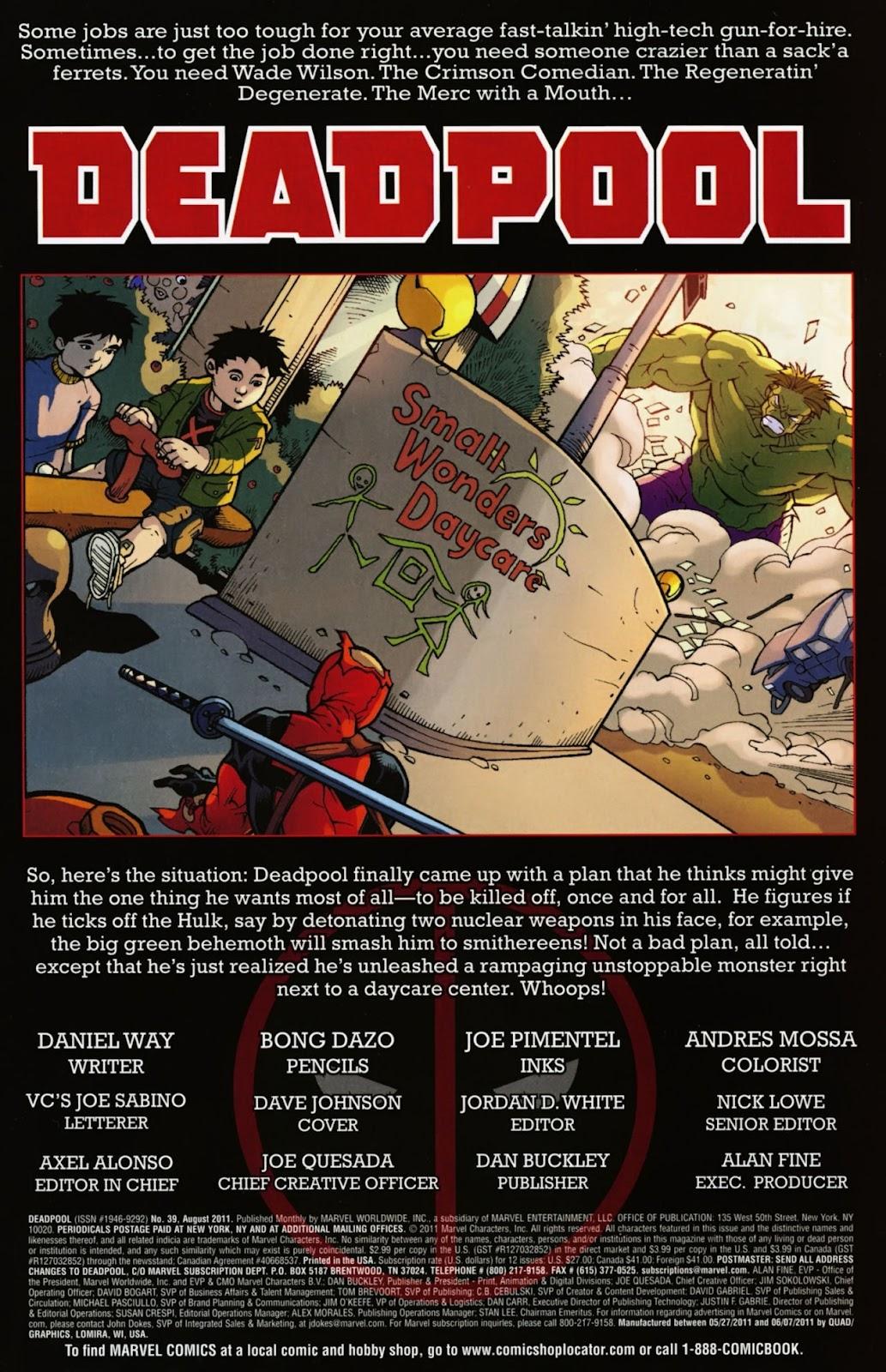 Read online Deadpool (2008) comic -  Issue #39 - 2