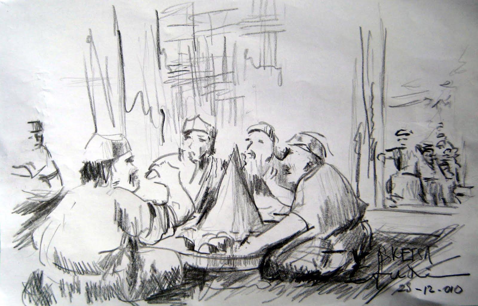 Griya Lukisan: Sketsa